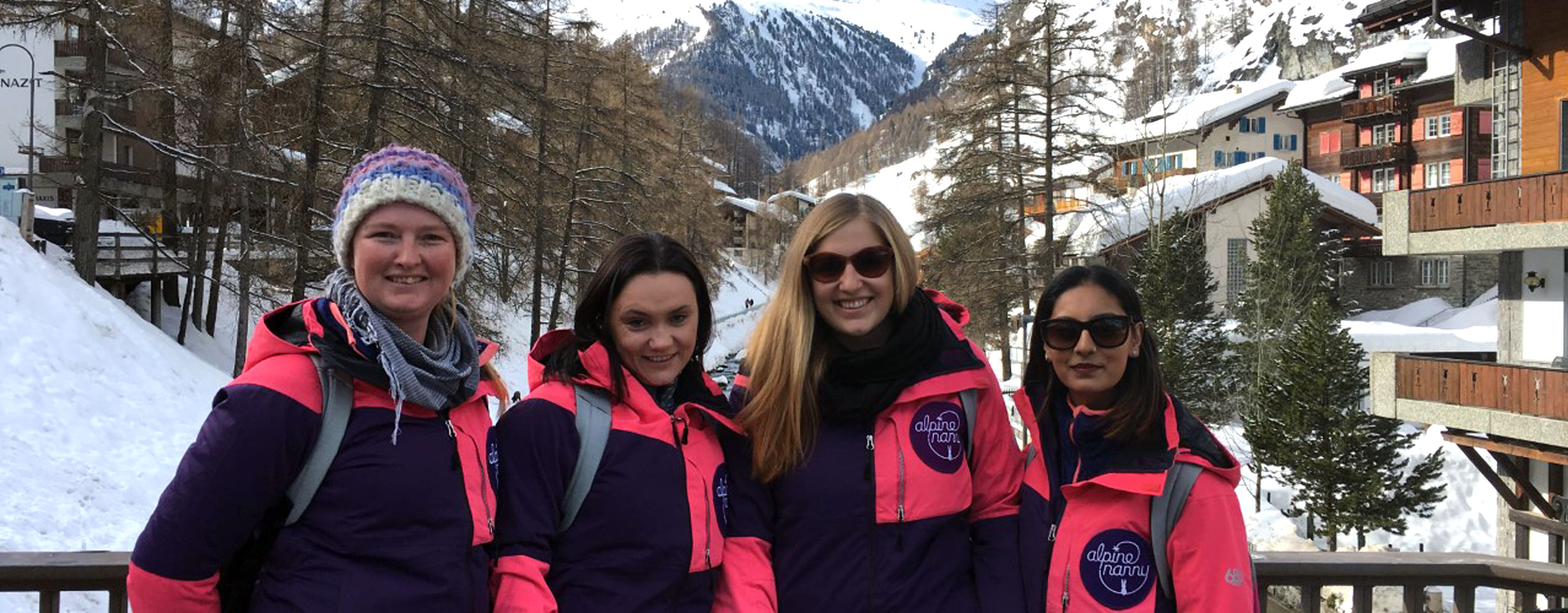 alpine nanny team in front of the matterhorn